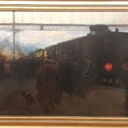 The Train Painting Itself