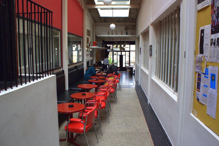 The café in Cinema Rif.