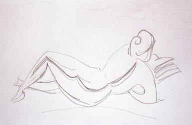 Sketch after statue