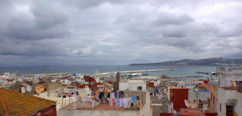 View from the hostel roof terrace.