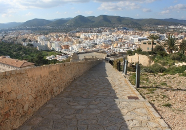 Ibiza town wall view