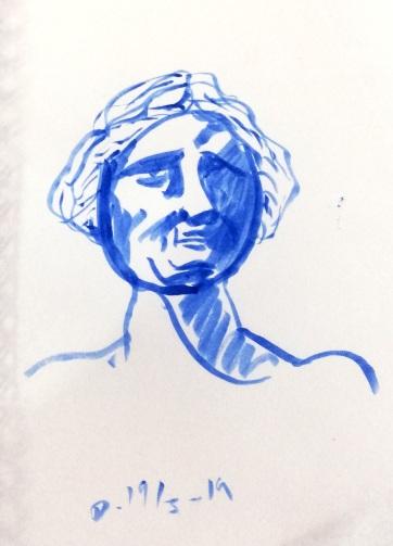 Studies of the statue