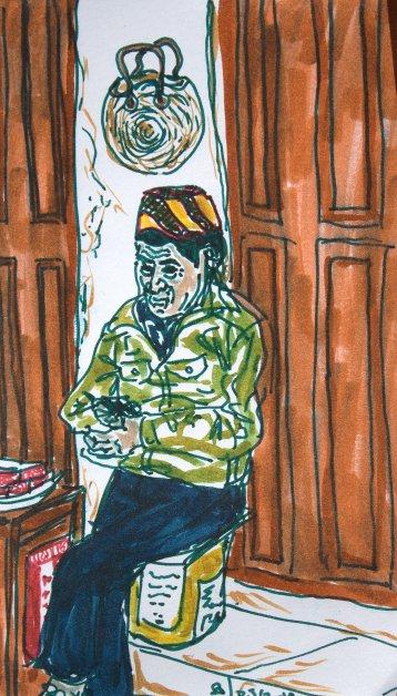 man selling cigarets
