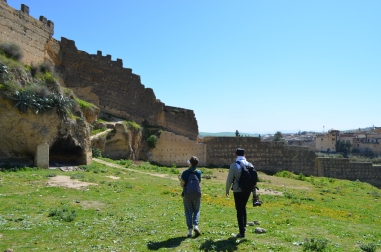 Me and S walking near the Tombs of Merinides