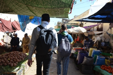 Me and S walking in the medina