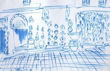 Sketch of medina street