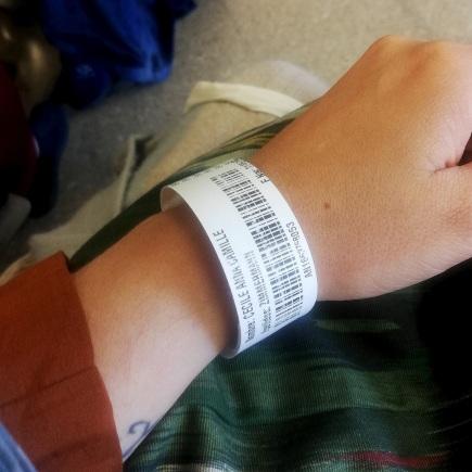 My hospital bracelet