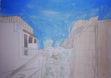 Balcony view sketch
