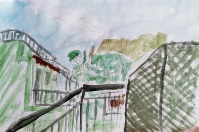 Balcony view sketch