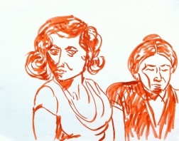 Study of girls on the front right of the photo
