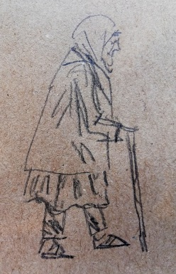 Sketch on table paper