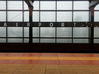 Airport train station