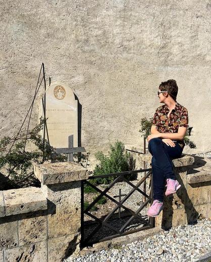 Me near Rilke's grave